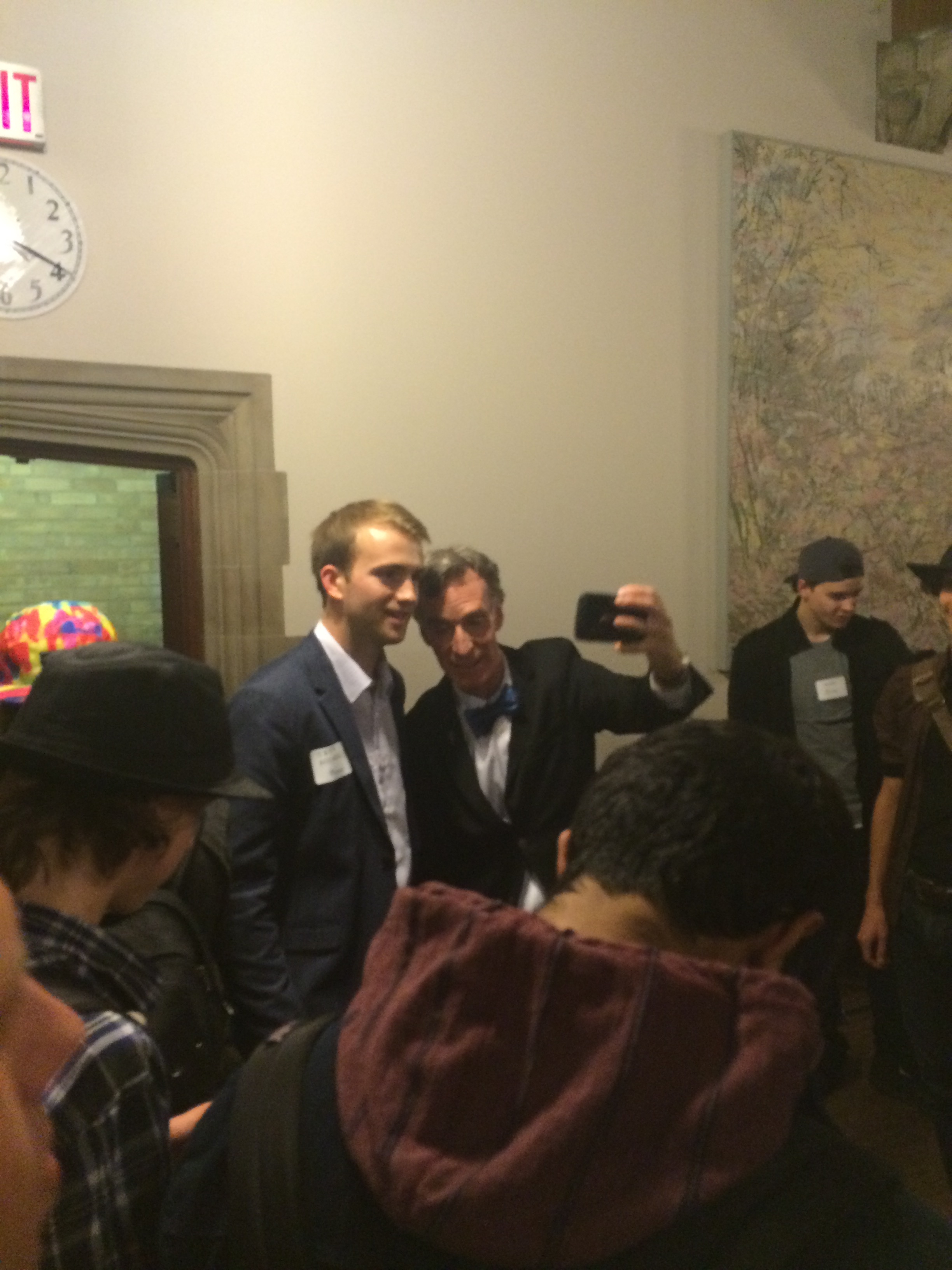 Bill Nye and guests at the Hart House reception