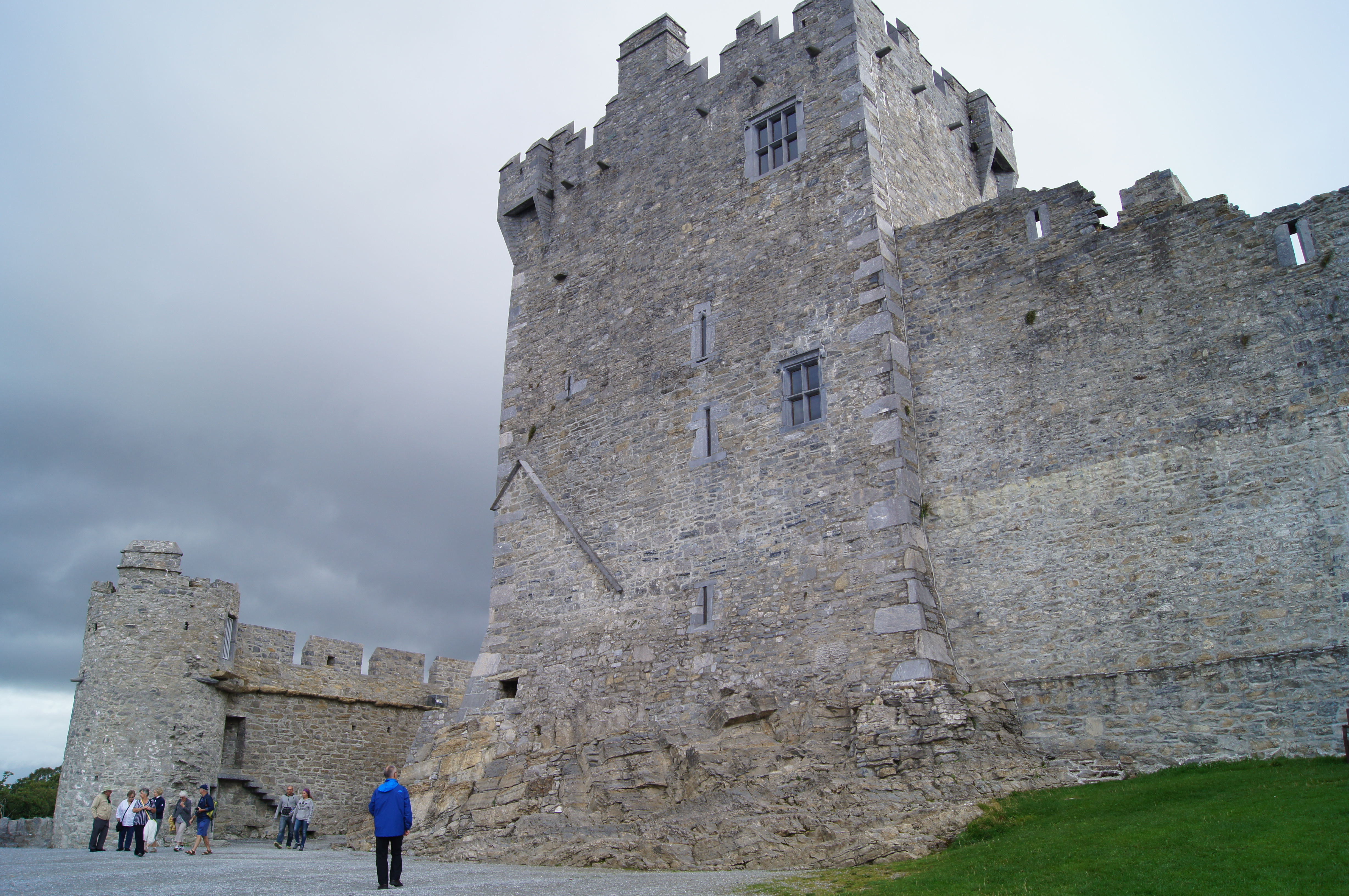 A castle in the nearby national park